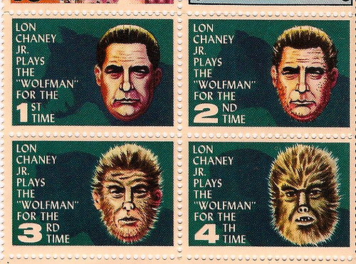 Lon Chaney Jr. Stamps From MAD Magazine | by Donald Deveau