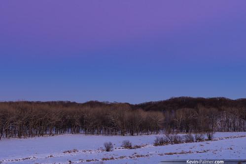 pink blue trees winter white snow cold evening washington illinois twilight view purple dam january clear snowfall beltofvenus farmdale eastpeoria tamron1750mmf28 farmdalerecreationarea