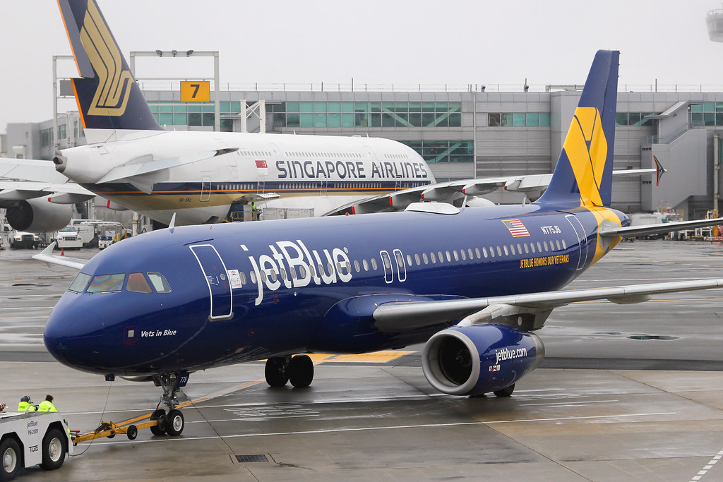 "N775JB | Airbus A320-232 | jetBlue Airways ""Vets in Blue"" (special ""Jetblue Honors Our Veterans"" colours)"