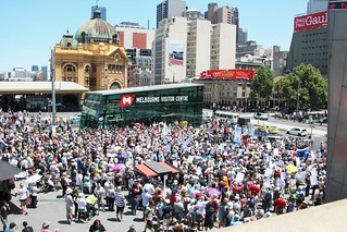 Federation Square crowd shot - OurABC-Melbourne-Rally-IMG_9075 | by John Englart (Takver)