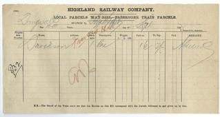 HIghland Railway Waybill 1883 | by ian.dinmore