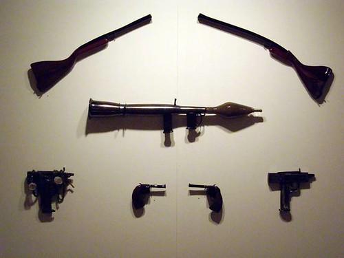 """Alexander Sarkis Abajian """"Glass Gun Sculpture"""""""