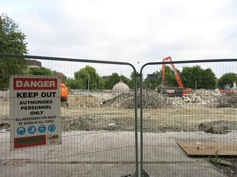 Central Library demolition, Gloucester Street