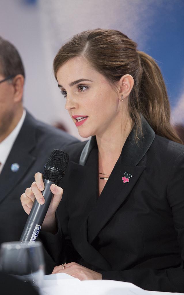 UN Goodwill Ambassador, Emma Watson, speaking at World Eco… | Flickr