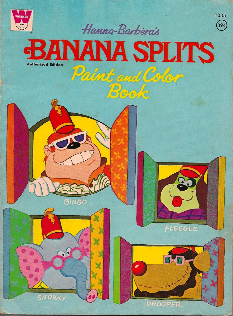 Banana Splits Coloring Book (Whitman 1970) | donald deveau | Flickr