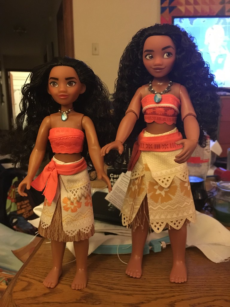 moana dolls  hasbro vs disney store  let me know your thou
