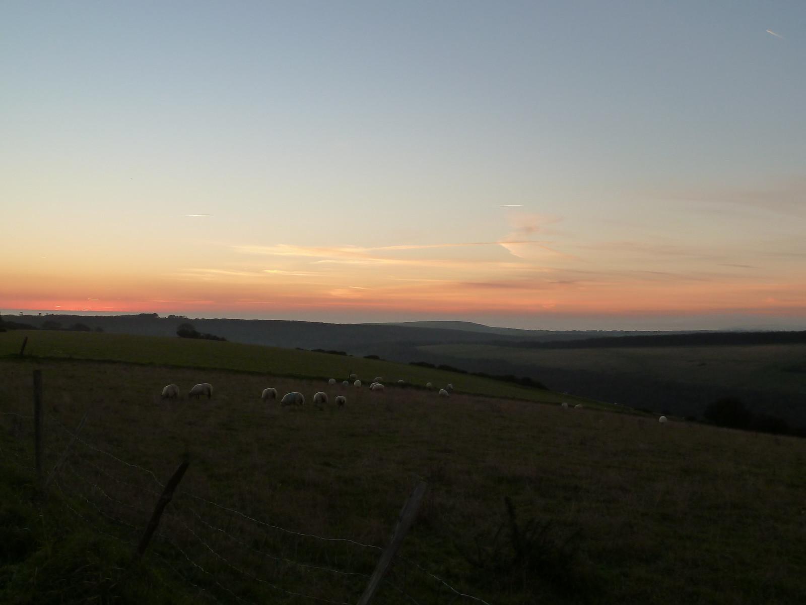 Berwick to Birling Gap December sunset.