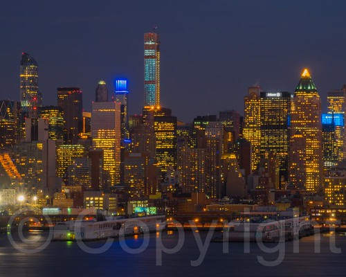 Midtown Manhattan on the Hudson River at Night, New York City | by jag9889