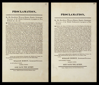 Proclamations of William Hobson, 30 January 1840   After arr…   Flickr