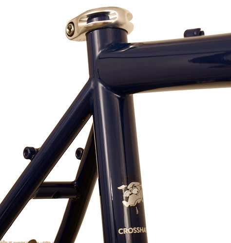 <p>Seat cluster detail of Gunnar CrossHairs in Roadhouse Blue with White Bullseye Decals.  The CrossHairs offerterrifc performance as a gravel grinder, off-season trainer, commuter, and for general enthusiast riding.</p>