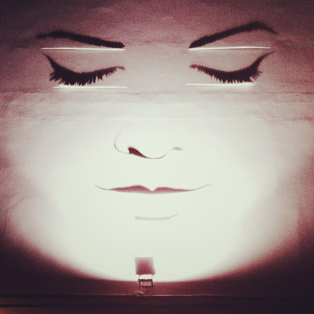 Street Art } #wall #art #street #face #shadows #black #w… | Flickr