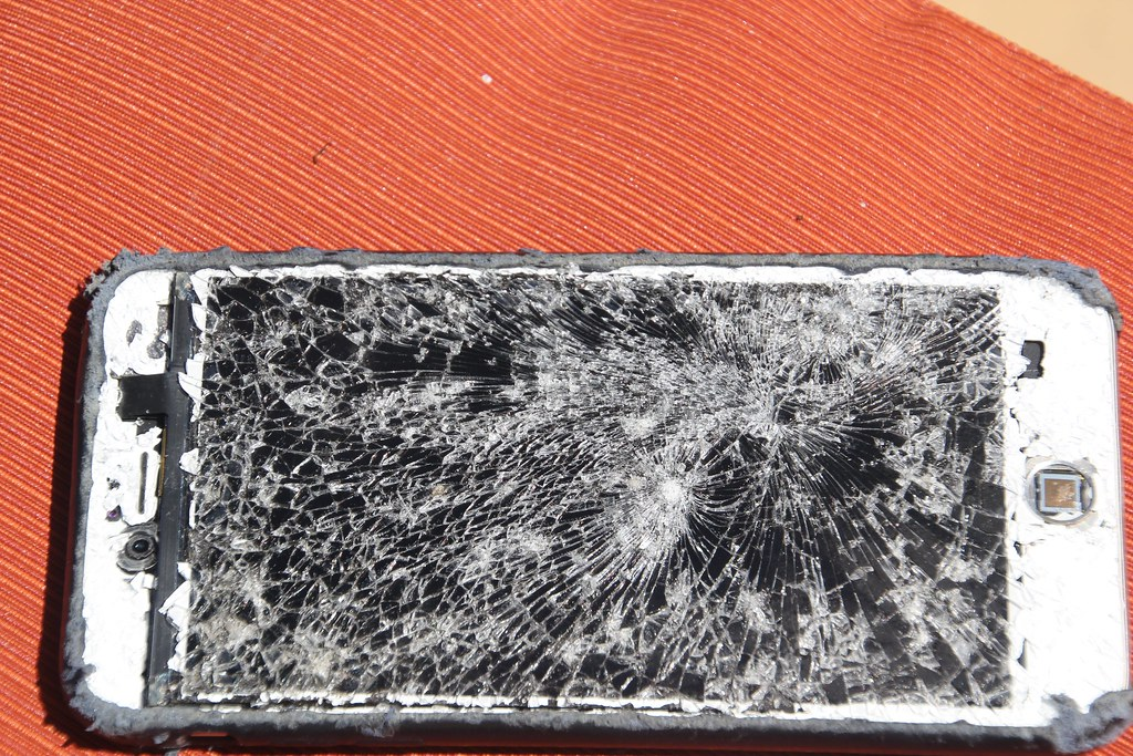 Crushed iPhone