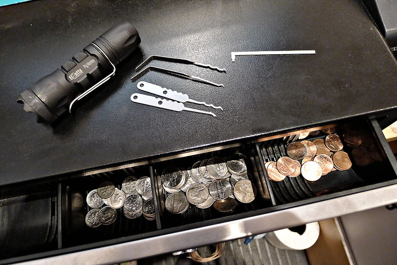 Cash Drawer Opened with EDC Tools