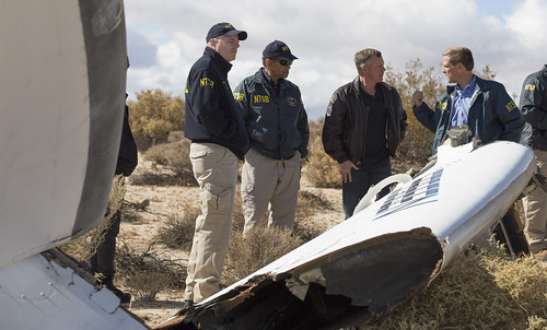 Acting Chairman Hart w/ Virgin Galactic pilot Todd Ericson & investigators at  SpaceShipTwo accident site | by NTSBgov