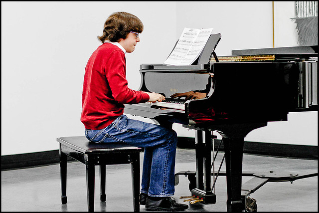 Ian at his Piano Recital