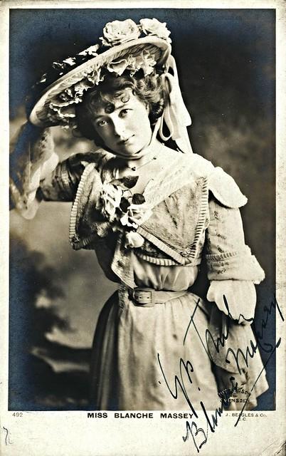 Miss Blanche Massey, Actress (J. Beagles Postcard 492)