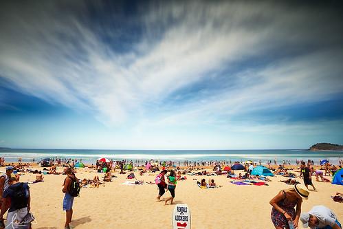 Summer at Manly Beach Australia