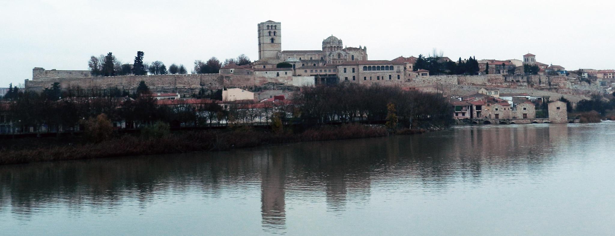 vista de Zamora y el Rio Duero