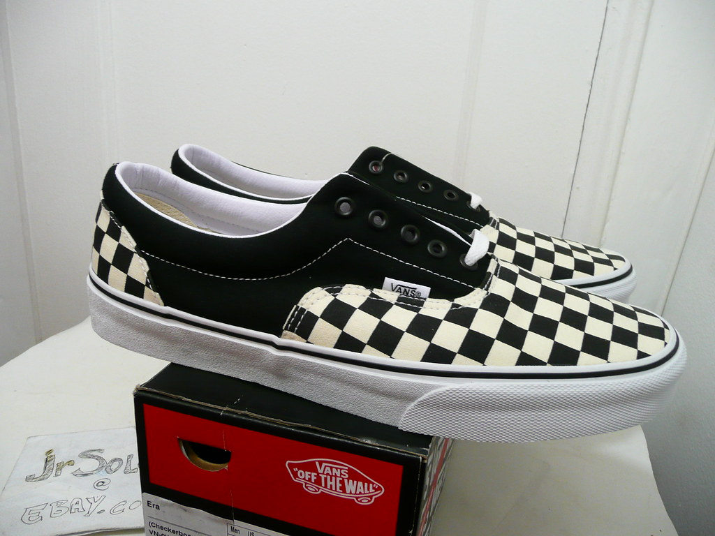 look out for look out for hot sale online VANS ERA (CHECKERBOARD) BLACK NATURAL VN-0W3CD6G SIZE 12 ...