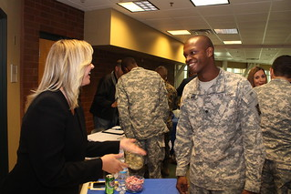 Hiring our heroes: Service members, veterans engage with civilian employers during Veteran Hiring Event | by 143d Sustainment Command (Expeditionary)