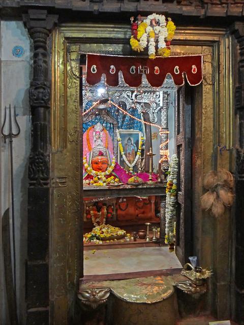 Le sanctuaire d'Annapurna dans le temple de Harsiddhi (Ujjain, Inde)