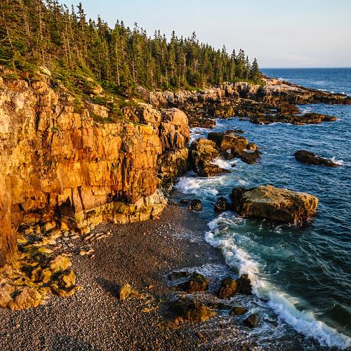 acadianpschoodicpeninsula hancockcounty maine ocean waves weather winterharbor usa sunset ravensnest locationrecorded water