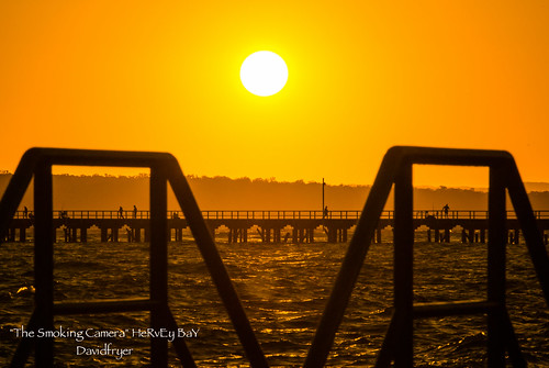 ocean morning travel autumn art sunshine silhouette sunrise photography golden pier early seaside nikon flickr image jetty magic award sunny australia hour queensland boardwalk v1 herveybay sunny16 urangan 30110mm
