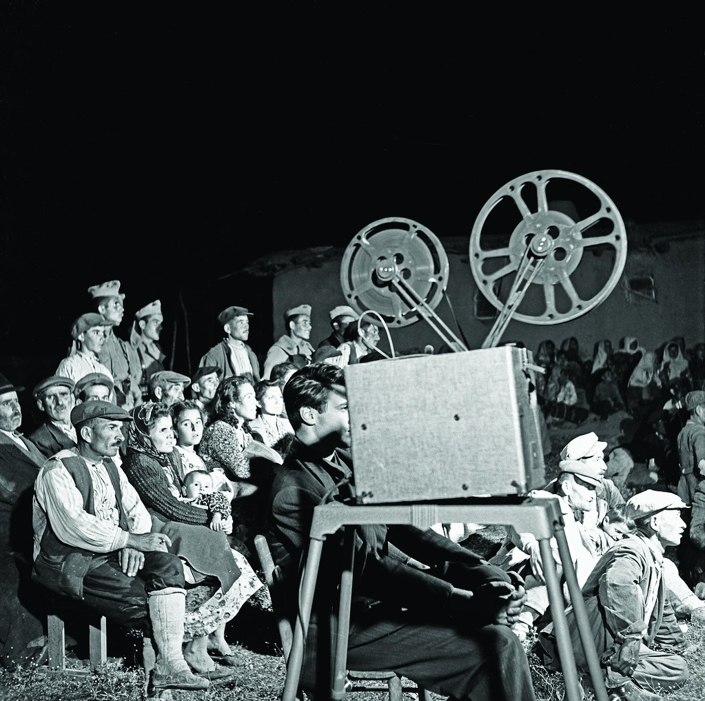 Residents of Ballıkpınar Village, movie screening, 1930s