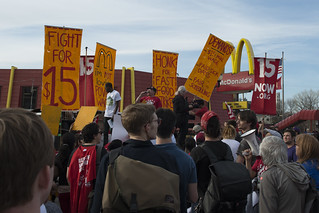 Strike and protest for a $15/hour minimum wage at a McDonalds restaurant | by Fibonacci Blue