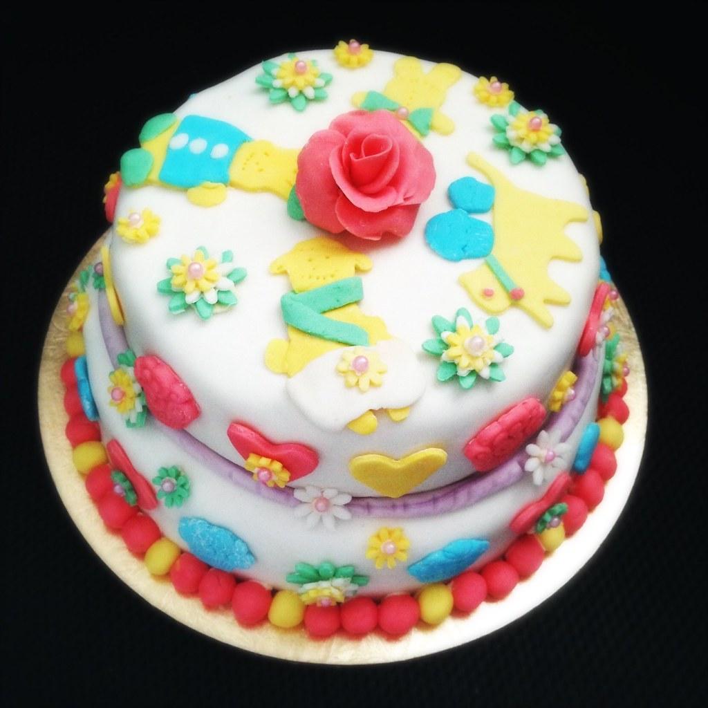 Awe Inspiring Little Girl Pink Fondant Birthday Cake Little Girls Pink Flickr Funny Birthday Cards Online Elaedamsfinfo