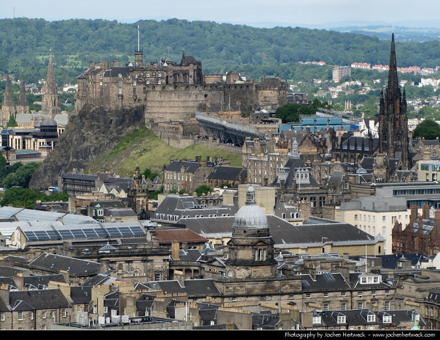 View from Arthur's Seat, Edinburgh, Scotland, UK