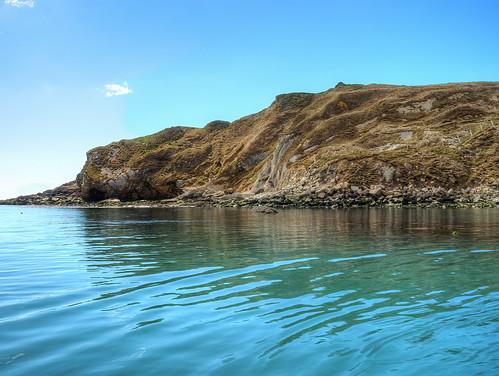 blue sea sky water beautiful rocks calm land serene ripples tranquil lulworthcove jurassiccoast