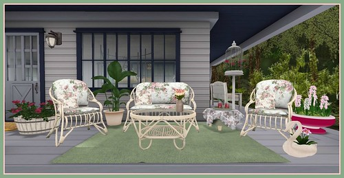 Perfect Ten Event April 2015: Finishing Touches Patio Set close up | by Hidden Gems in Second Life (Interior Designer)