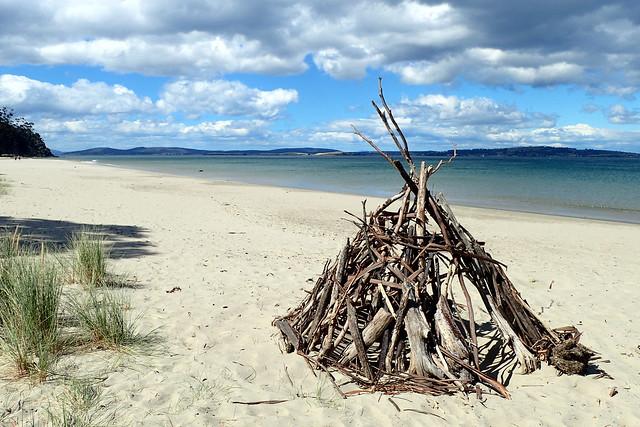 Stick Shelter, Kingston Beach