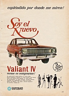 1966 Valiant IV Ad (Argentina)