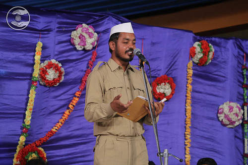 Devotee expresses his view in the form of Poem