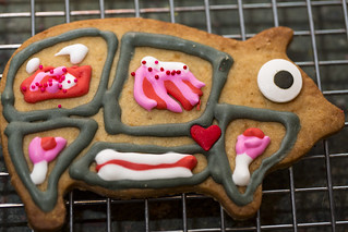 easter cookie with porkatomically correct icing (and candy heart) | by jlodder
