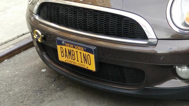 New York motor vehicle plates