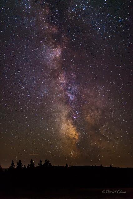 The Milky Way from near the Old Faithful geyser area, Yellowstone