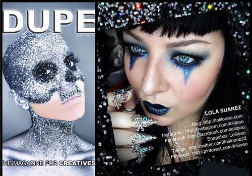 😄So completely stoked to be published in the April 2016 issue of @dupemag !!! Thank you so much @dupemag , for recognizing established as well as up and coming artists...it really lights a fire within to keep on truckin'  I love creating and sociall | by Loliloooo