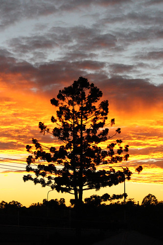sunrise goodna ipswich queensland australia golden flame winter clouds sunlit sunlight morming