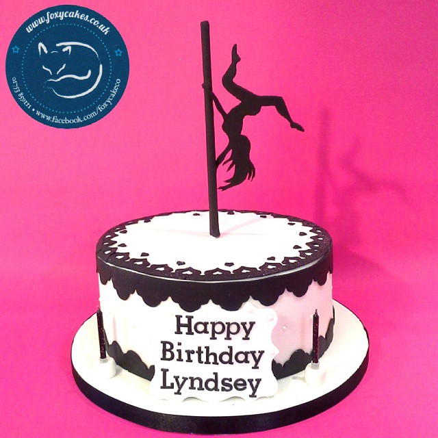 Swell Pole Dancing Themed Cake Cake Thefoxycakeco Windsor E Flickr Personalised Birthday Cards Cominlily Jamesorg