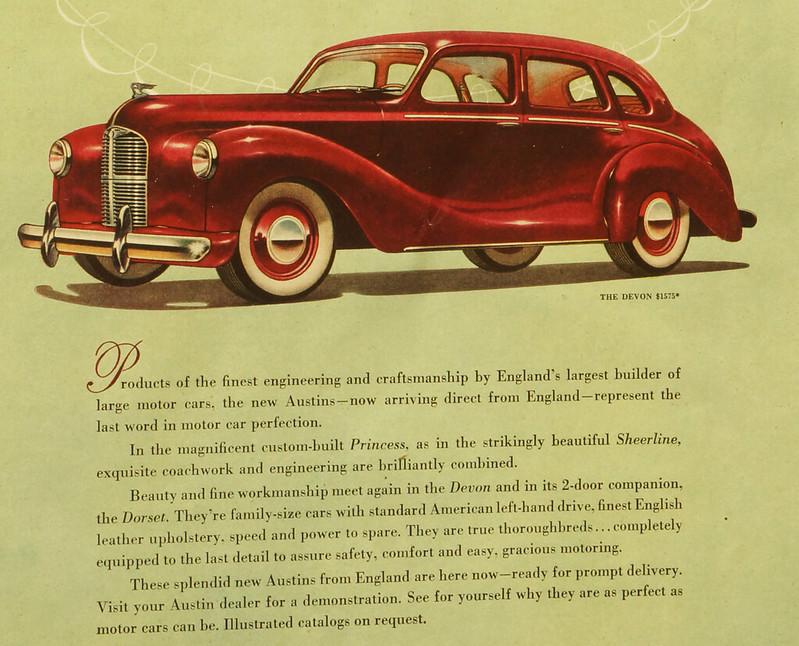 CM064 1948 Austin Car Ad Framed DSC04385 crop