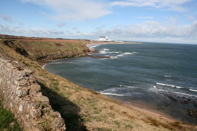 View north to Thorntonloch