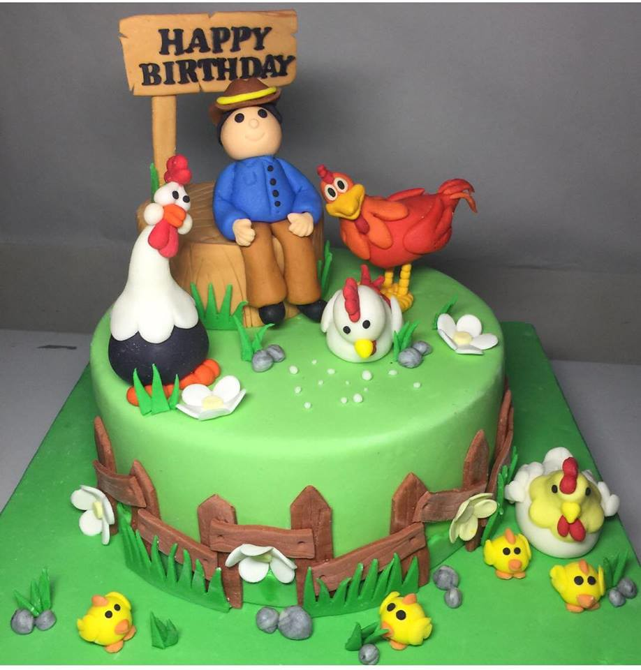 Superb Birthday Cake With Cute Chickens By Joanne Joy Sunga Abell Flickr Birthday Cards Printable Inklcafe Filternl