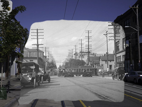 Pike and Broadway, Seattle, 1913 and 2015