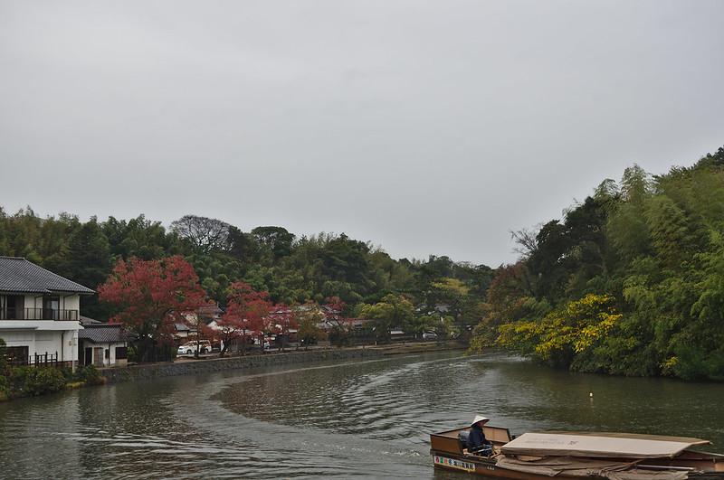 Douve du château depuis le quartier des Samourai