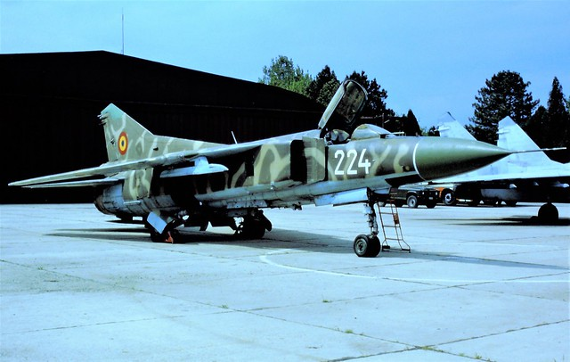 MiG-23MF 224 c/n 0390215224/12103 Romanian Air Force/FAR. Constanta Mihail-Kogalniceanu Air Base, Romania. 3rd of May 1999.