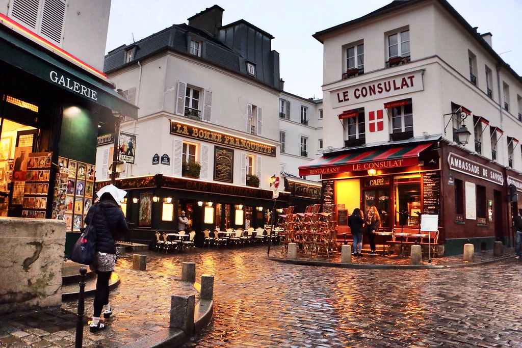 A rainy afternoon exploring Montmartre, Paris