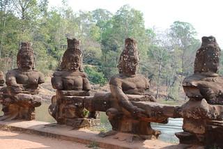 Angkor Wat bridge decorations